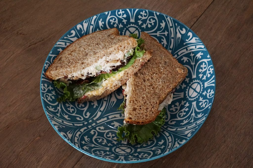 Earth to Oven Chicken Salad sandwich Sylvania Toledo